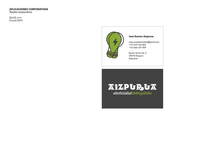 Identidad Corporativa • Aizpurua Electricidad 2015 4