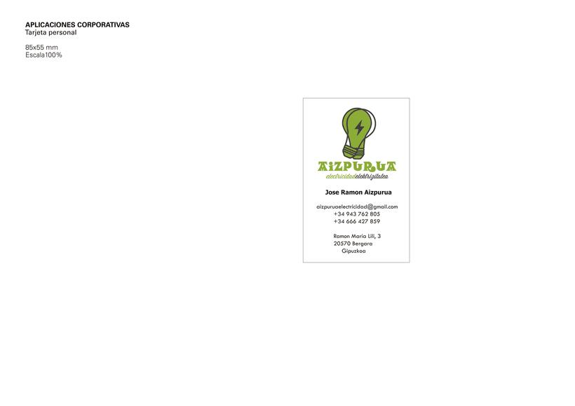 Identidad Corporativa • Aizpurua Electricidad 2015 5