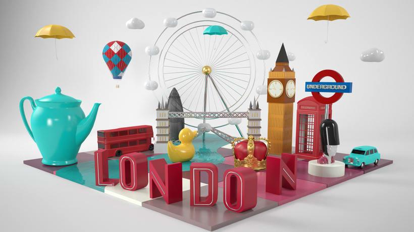 LONDON: Mi Proyecto del curso: Dirección de Arte con Cinema 4D 1