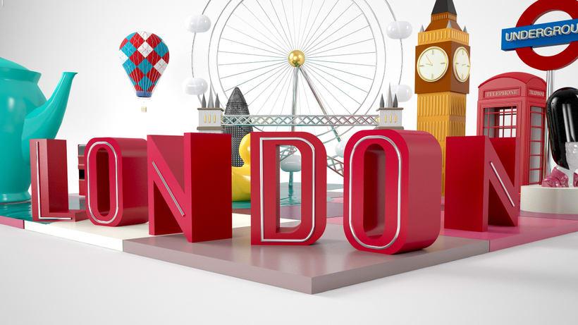 LONDON: Mi Proyecto del curso: Dirección de Arte con Cinema 4D 2