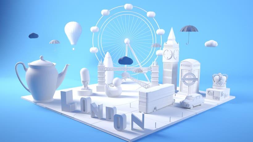 LONDON: Mi Proyecto del curso: Dirección de Arte con Cinema 4D 4