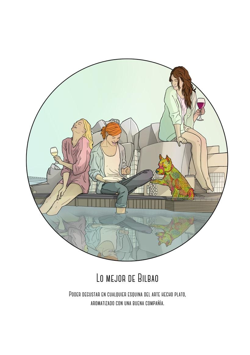 """Ilustraciones para Creation Mag """"lo mejor y lo peor de Bilbao"""" 1"""