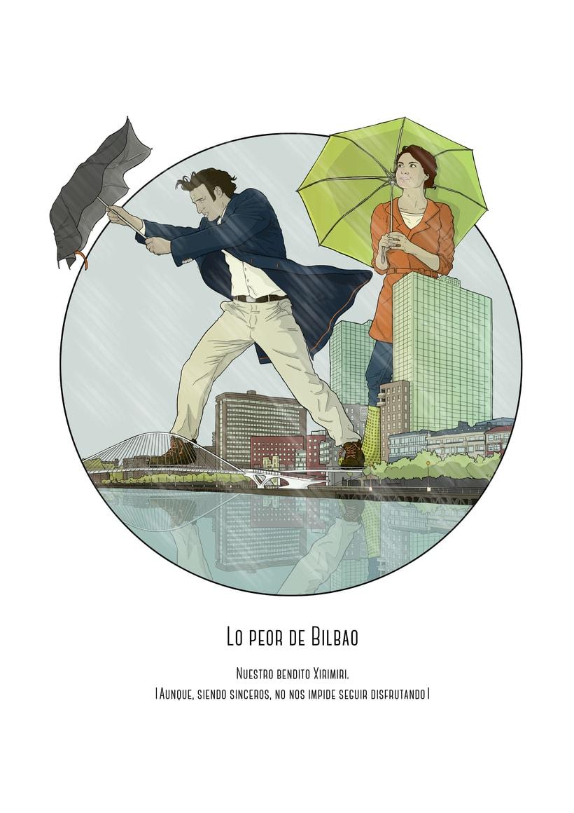 """Ilustraciones para Creation Mag """"lo mejor y lo peor de Bilbao"""" 2"""