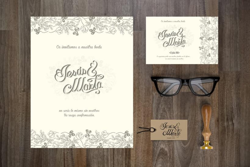 lettering invitación de boda 0