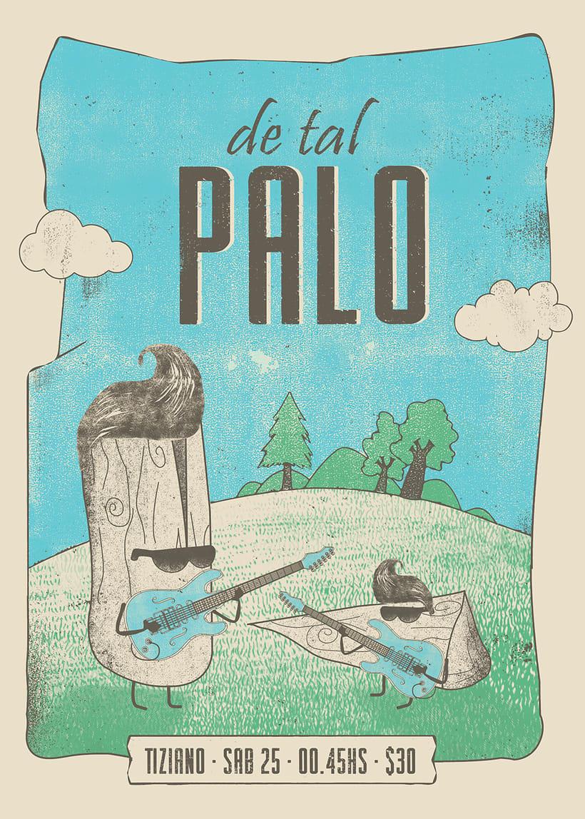 Mi Proyecto del curso: Poster para De Tal Palo, banda Argentina de rock -1