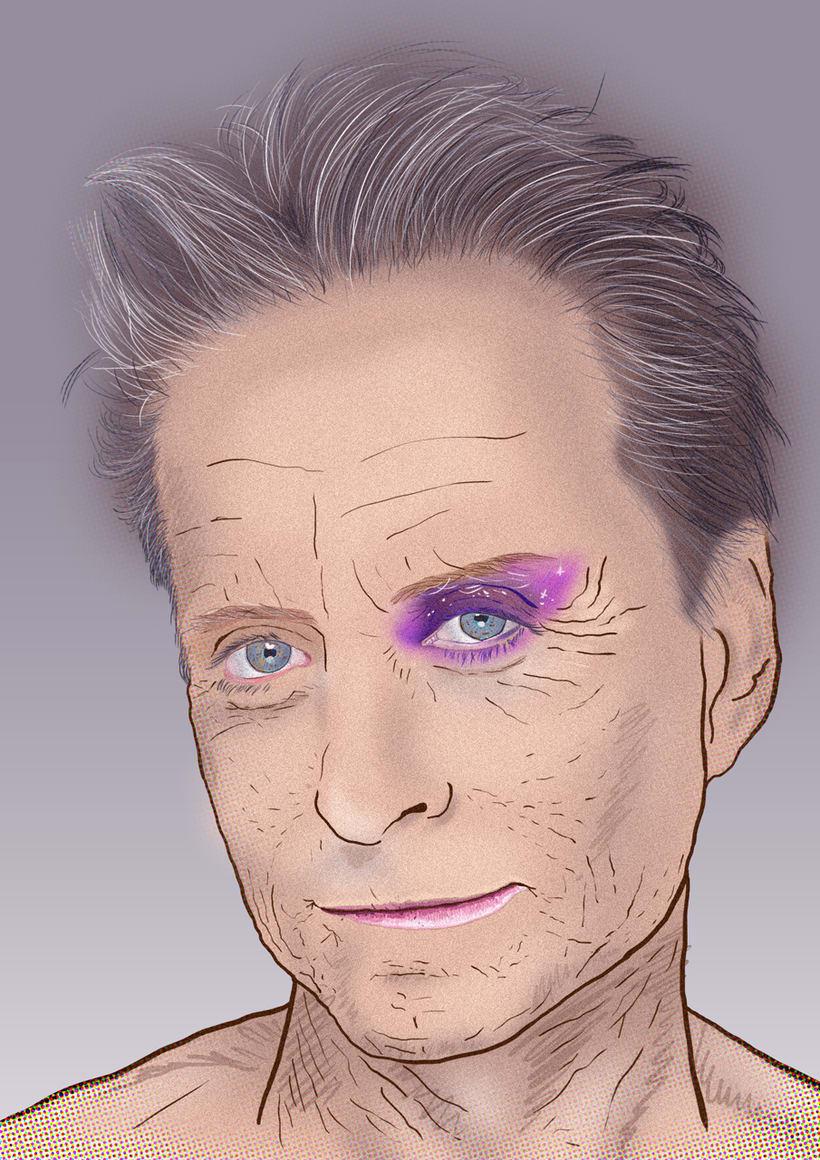 Michael Douglas Portrait -1