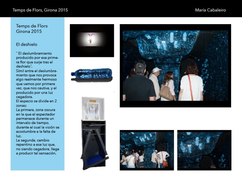 El deshielo: Proyecto seleccionado para Temps de Flors, Girona 2015 ( 1er curso Interiorismo gráfico ) -1
