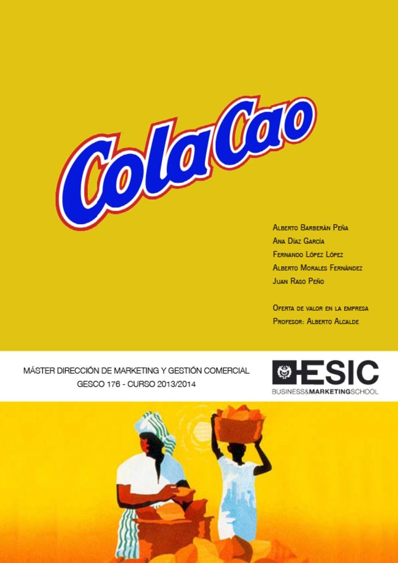 Maquetación presentación ColaCao - ESIC 0