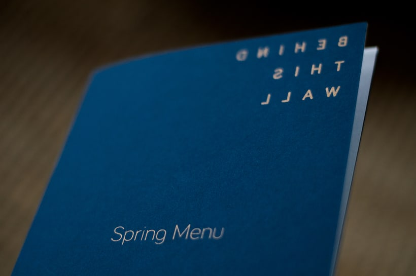 Spring Menu for Behind This Wall 1