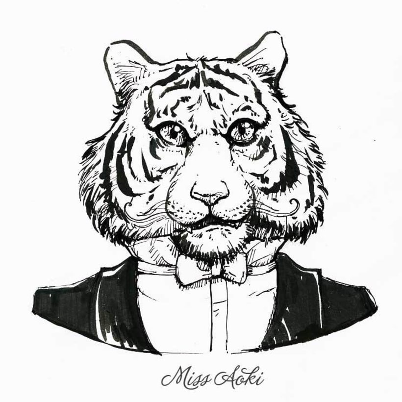 Fancy Animals (Inktober 2015) 1