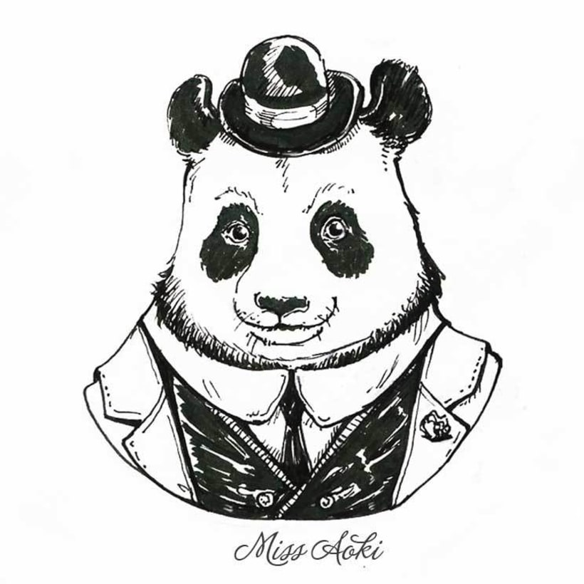Fancy Animals (Inktober 2015) 3