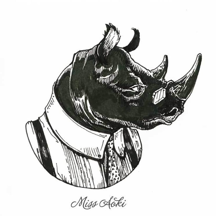 Fancy Animals (Inktober 2015) 4