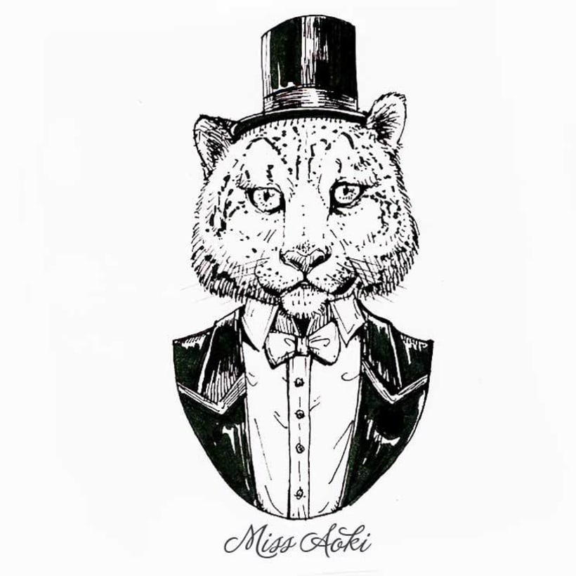 Fancy Animals (Inktober 2015) 5