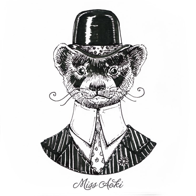 Fancy Animals (Inktober 2015) 7