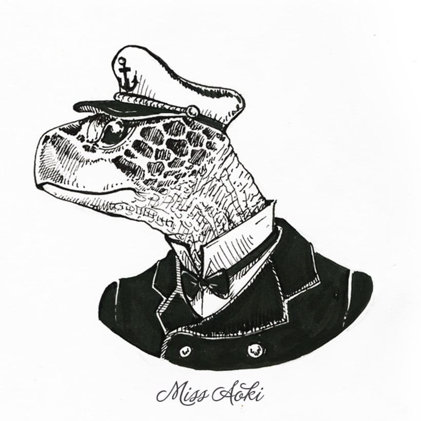Fancy Animals (Inktober 2015) 9