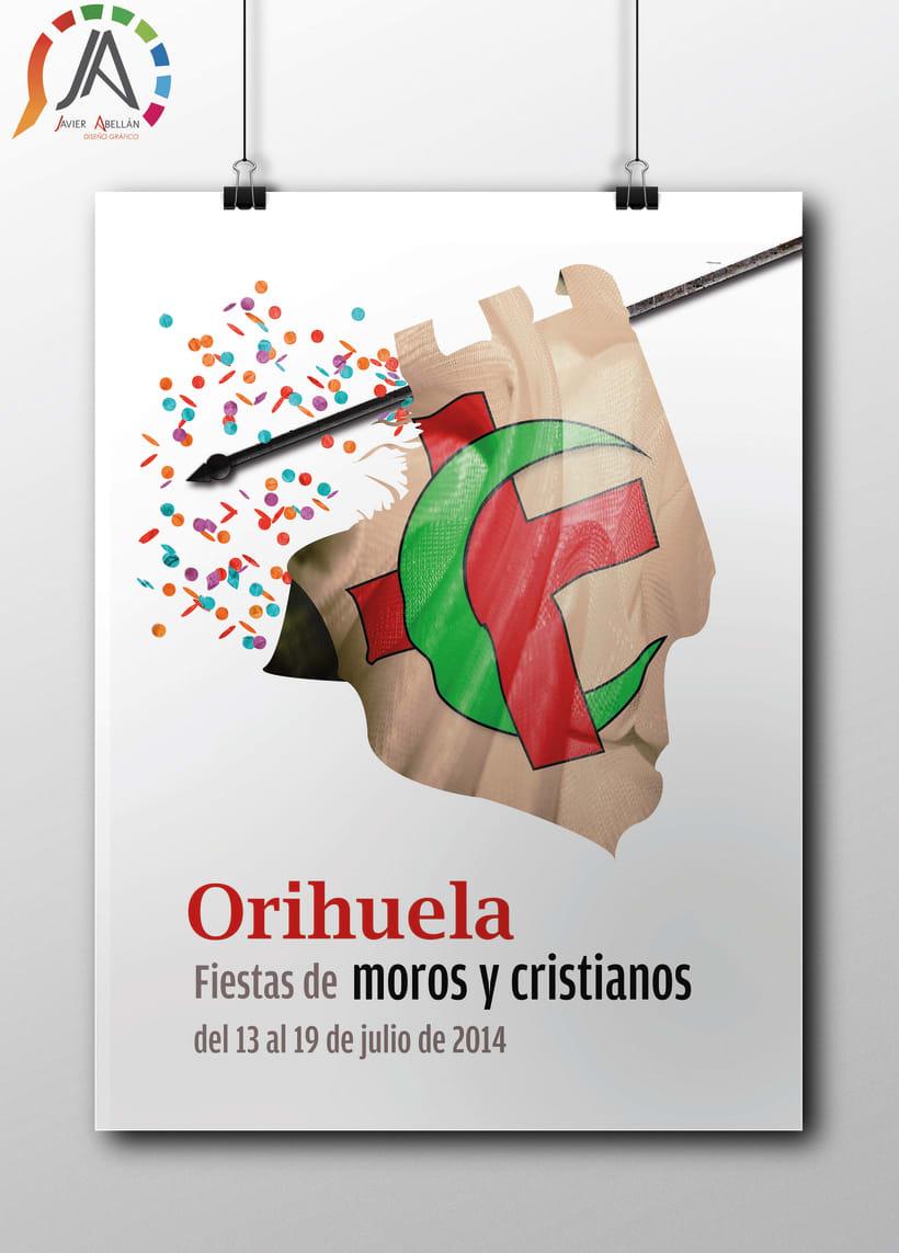 CARTEL FIESTAS MOROS Y CRISTIANOS ORIHUELA 2014 -1