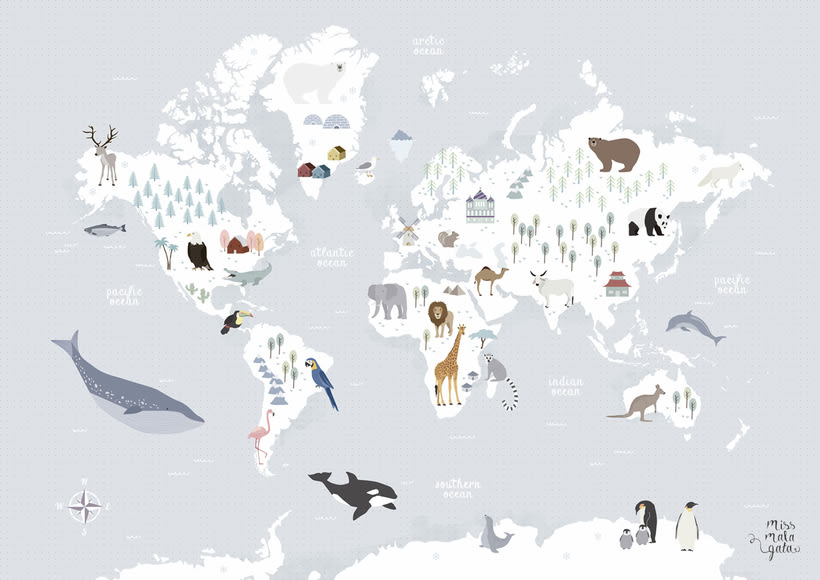 Animal Map of the World -1