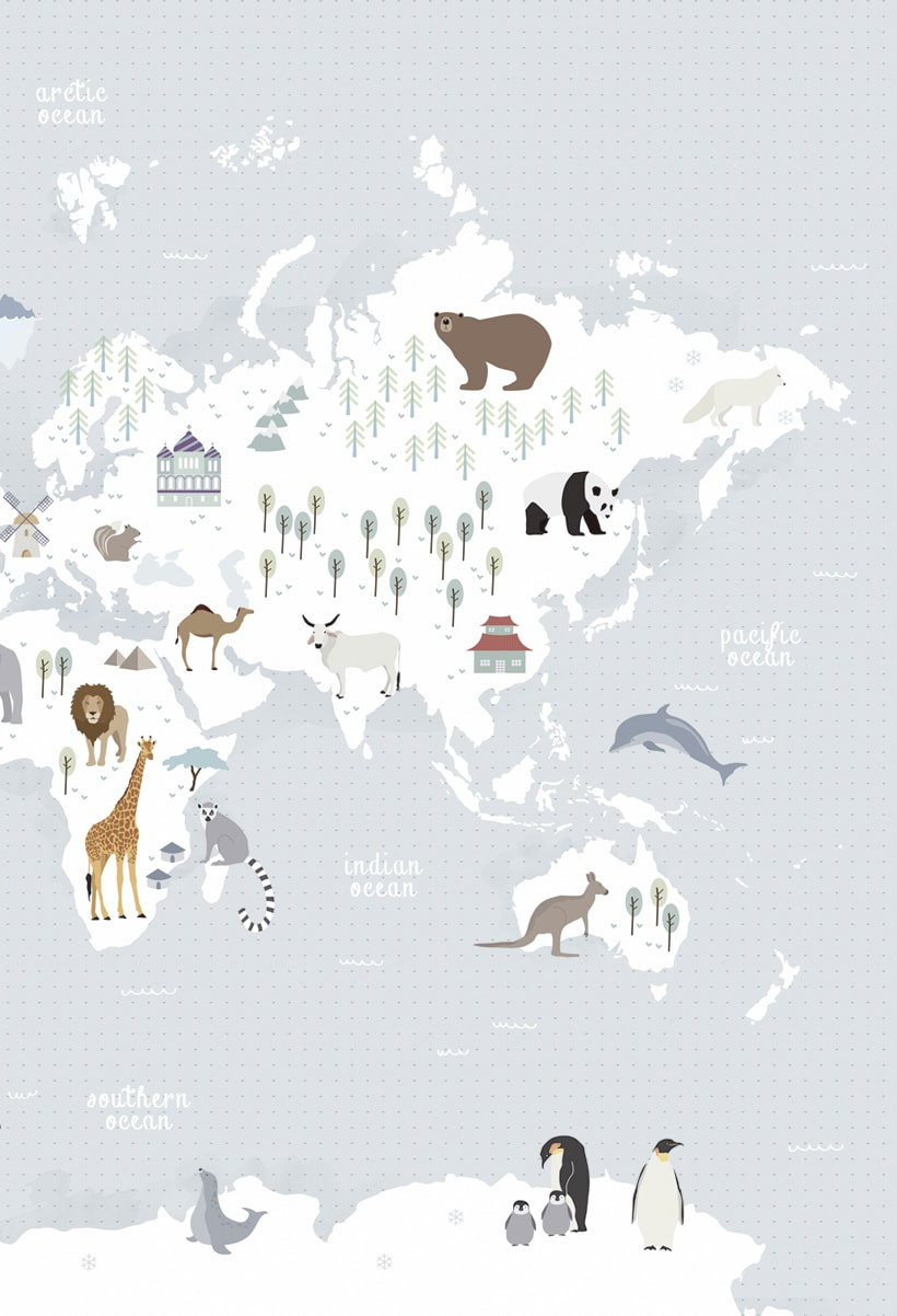 Animal Map of the World 1