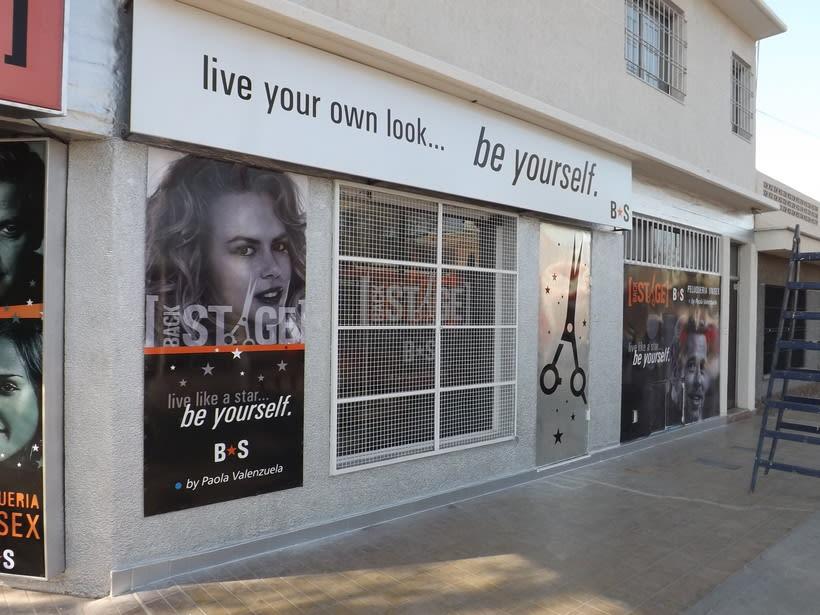 DIseño de Identidad y local comercial - Peluquería BACKSTAGE - de Paola Valenzuela 4