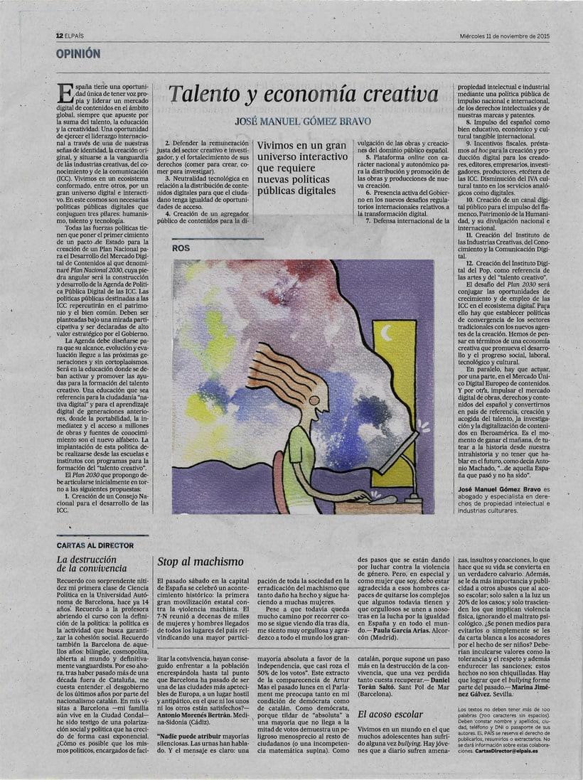 Ilustración para artículo del periódico El País. 0