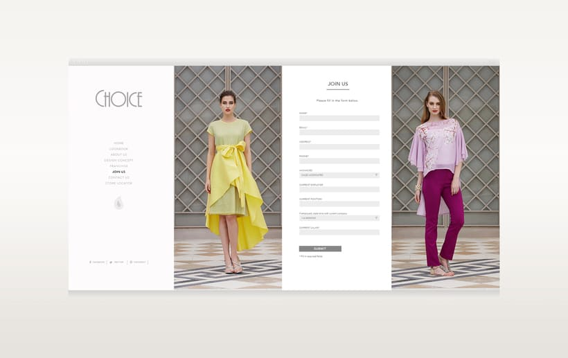 Choice Moda Website Design 4