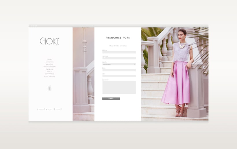 Choice Moda Website Design 5
