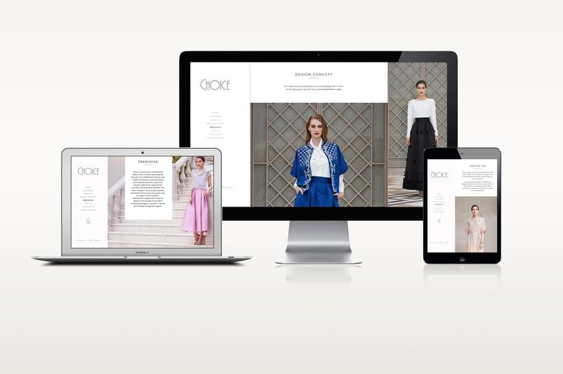 Choice Moda Website Design 3