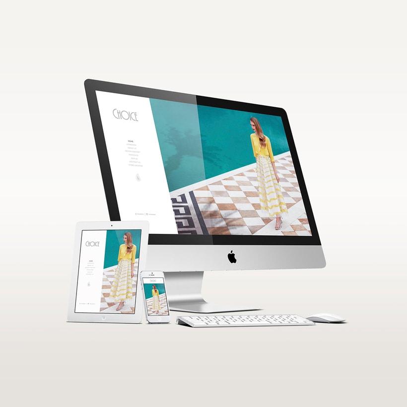 Choice Moda Website Design 0