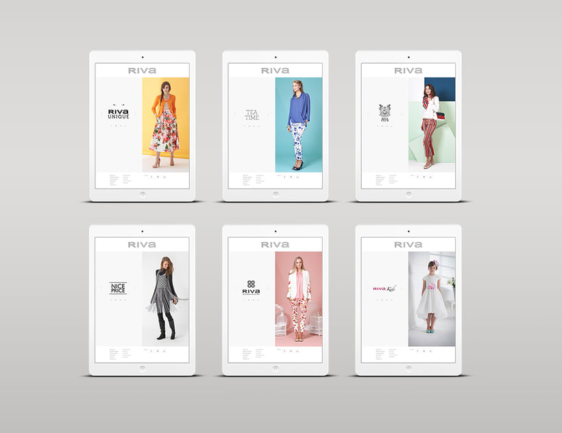 Riva Fashion Website Design 3