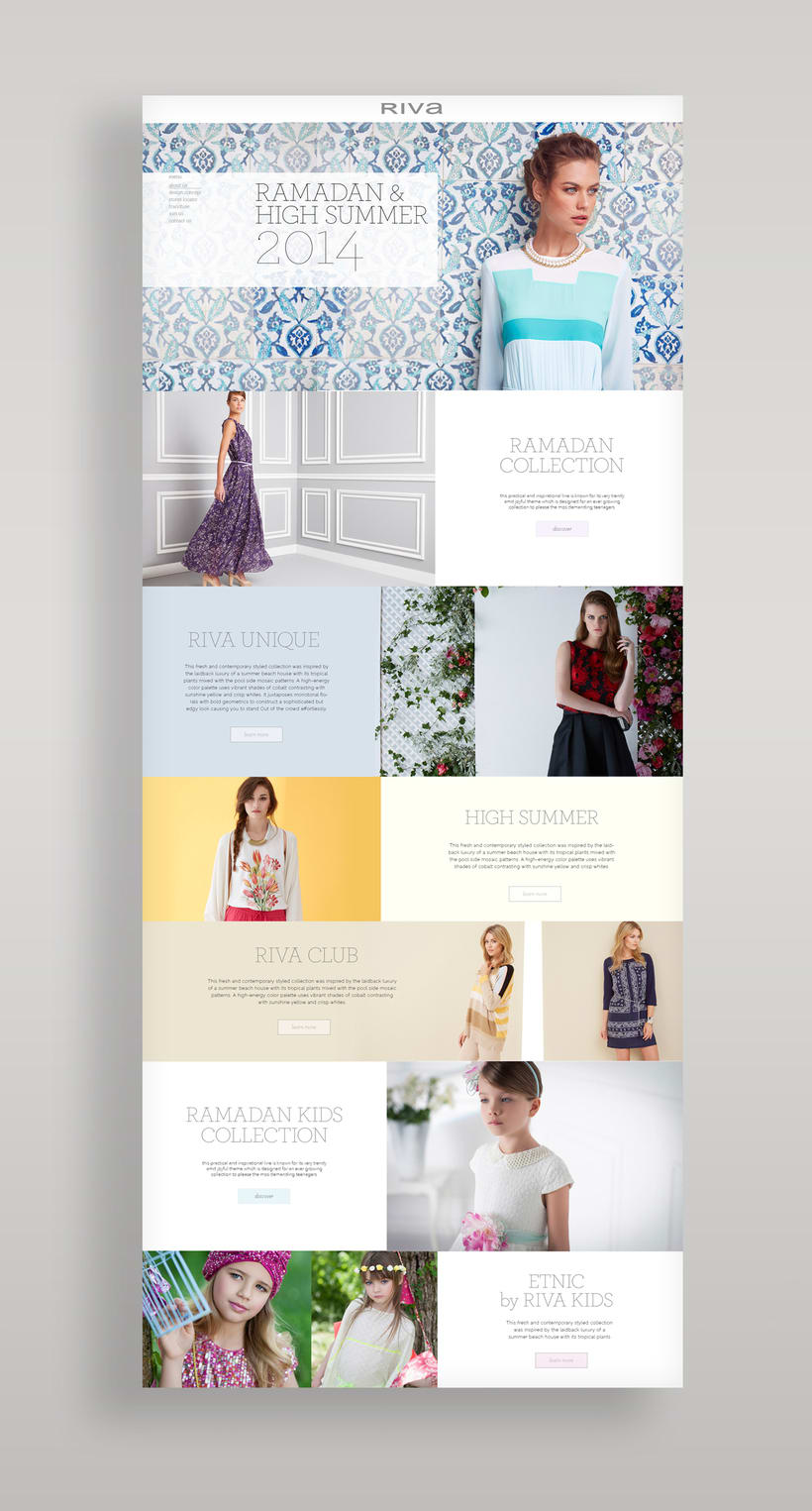 Riva Fashion Website Design 1