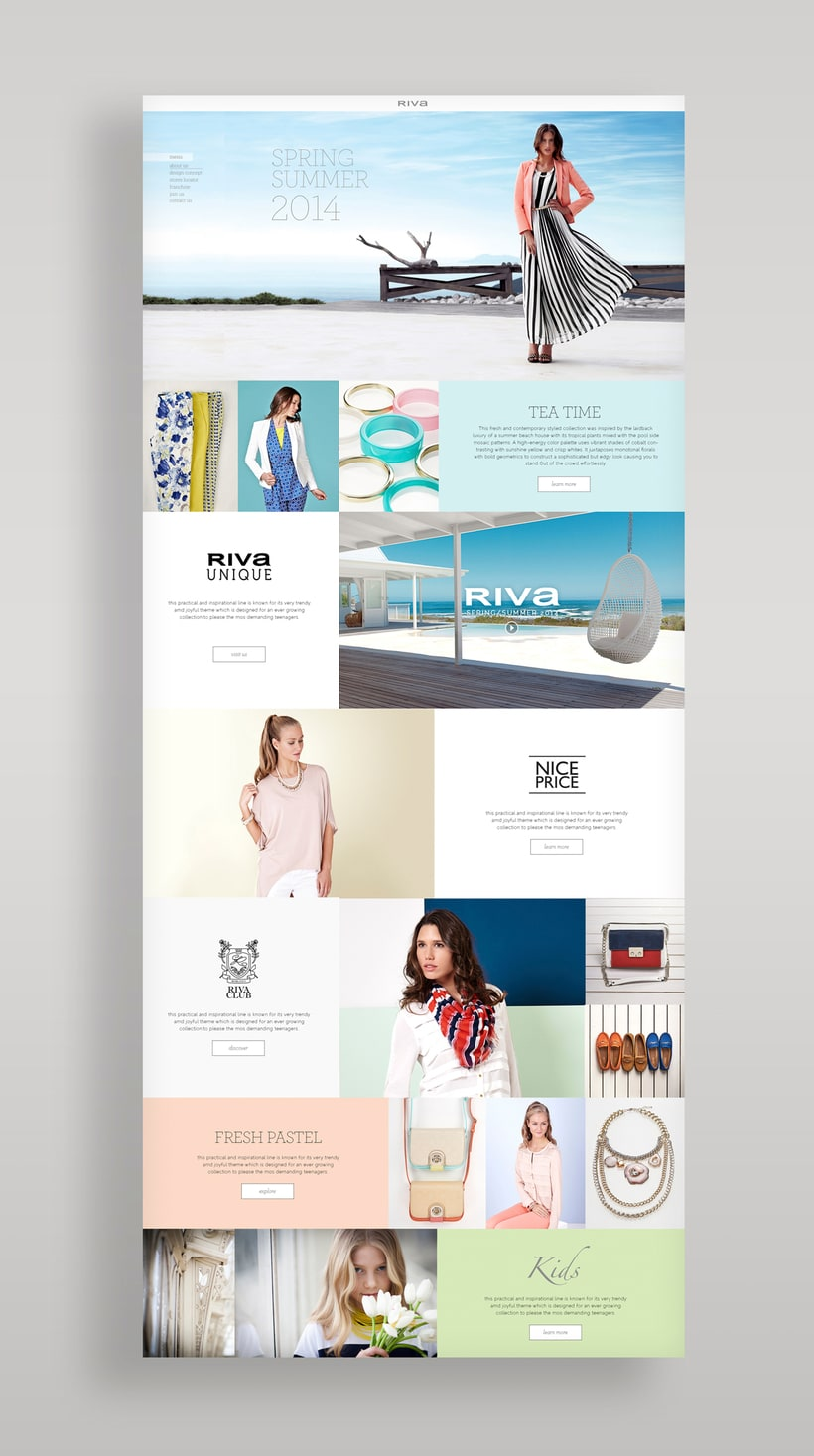 Riva Fashion Website Design 2