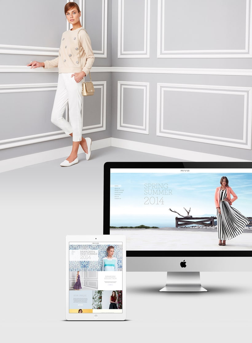 Riva Fashion Website Design 0
