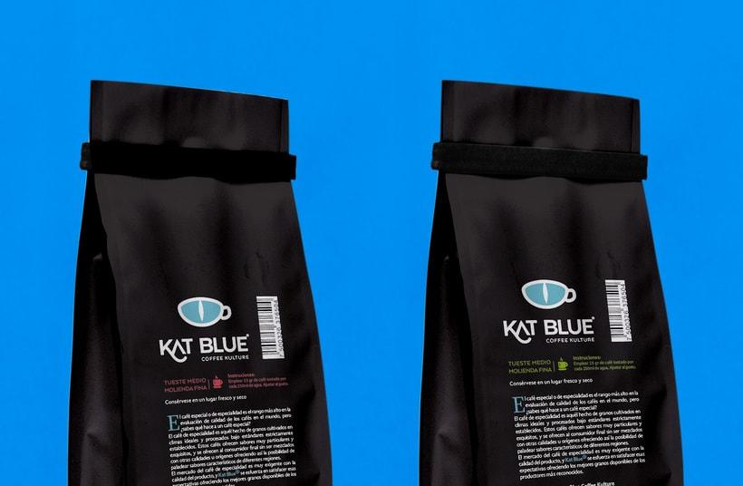 Kat Blue, proyecto de branding para café de autor -1