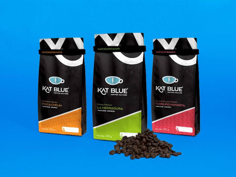 Kat Blue, proyecto de branding para café de autor 1