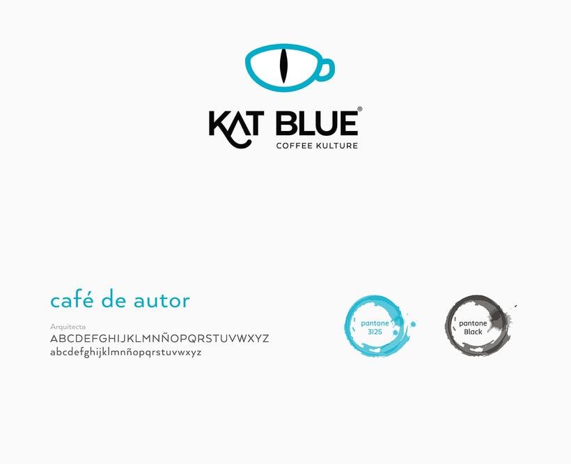 Kat Blue, proyecto de branding para café de autor 2