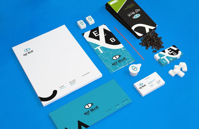 Kat Blue, proyecto de branding para café de autor 4