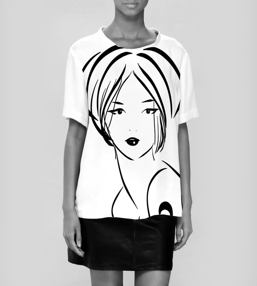 Fashion Illustration - B&W Sketches 8