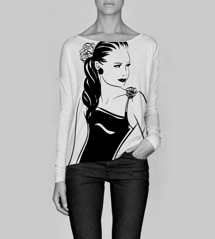 Fashion Illustration - B&W Sketches 9