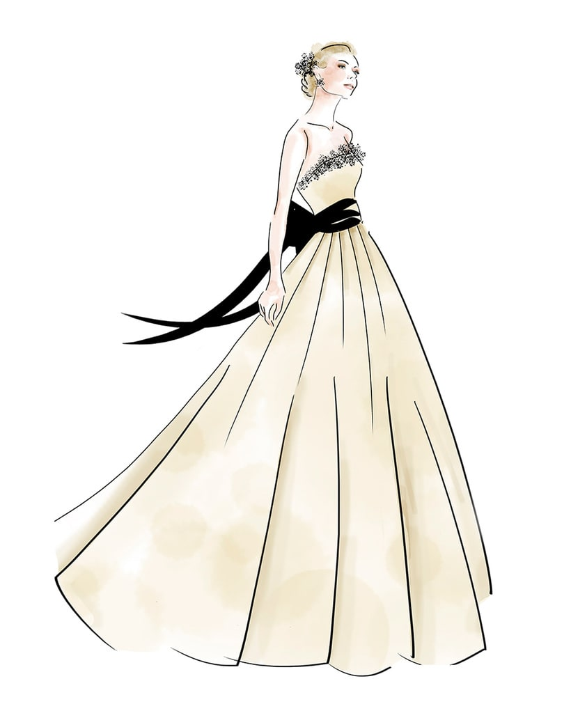 Fashion Illustration- Bride -1