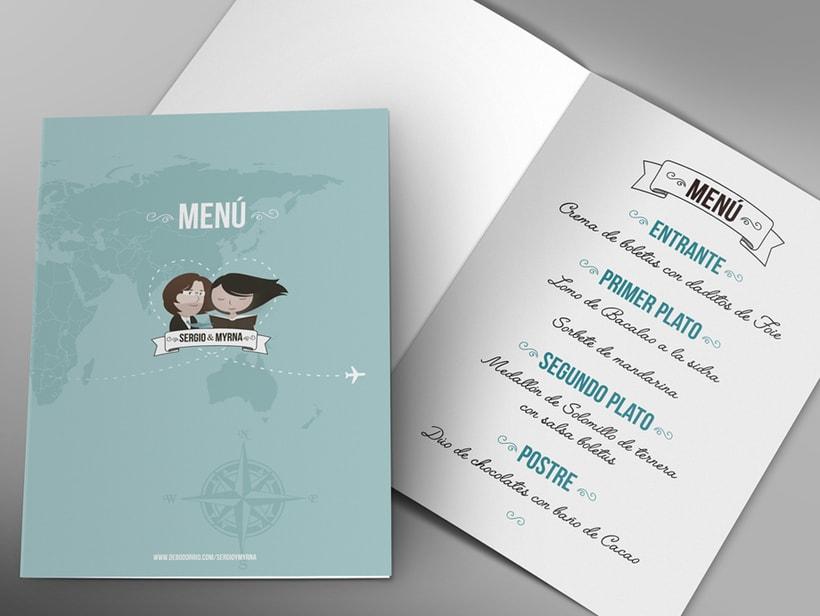 Invitaciones de boda, seatting plan, etiquetas de regalos, menús 4