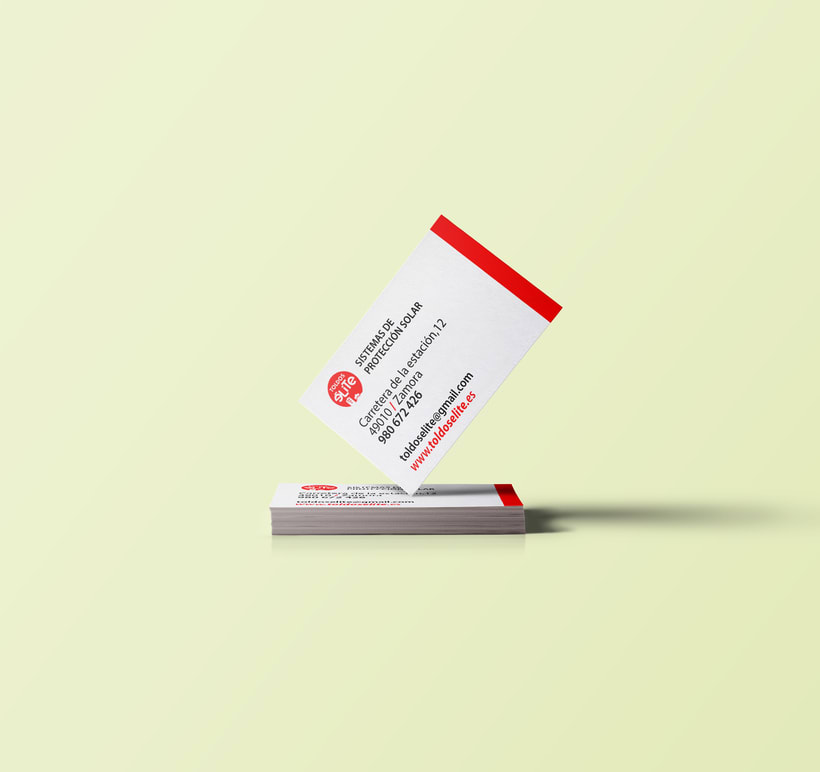 tarjetas de visita para Toldos Elite  -1