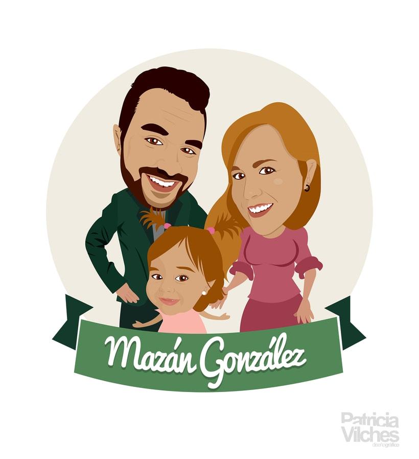 Caricatura familia 0