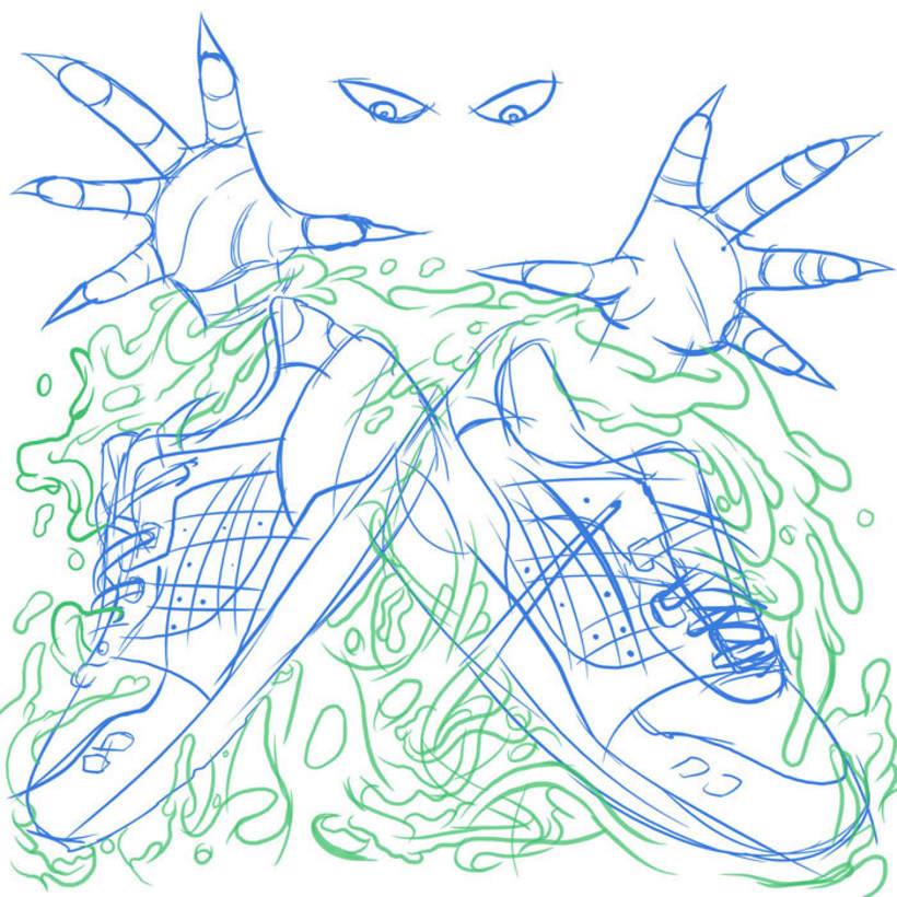 "Atmos x Asics Tiger Gel Lyte III ""Birthday-Dinner"" Illustration -1"