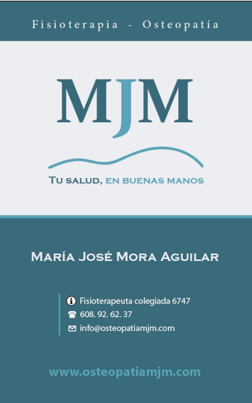 Diseño gráfico y diseño web para Osteopatía MJM 2