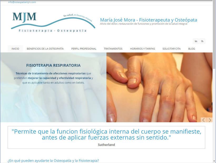 Diseño gráfico y diseño web para Osteopatía MJM 3