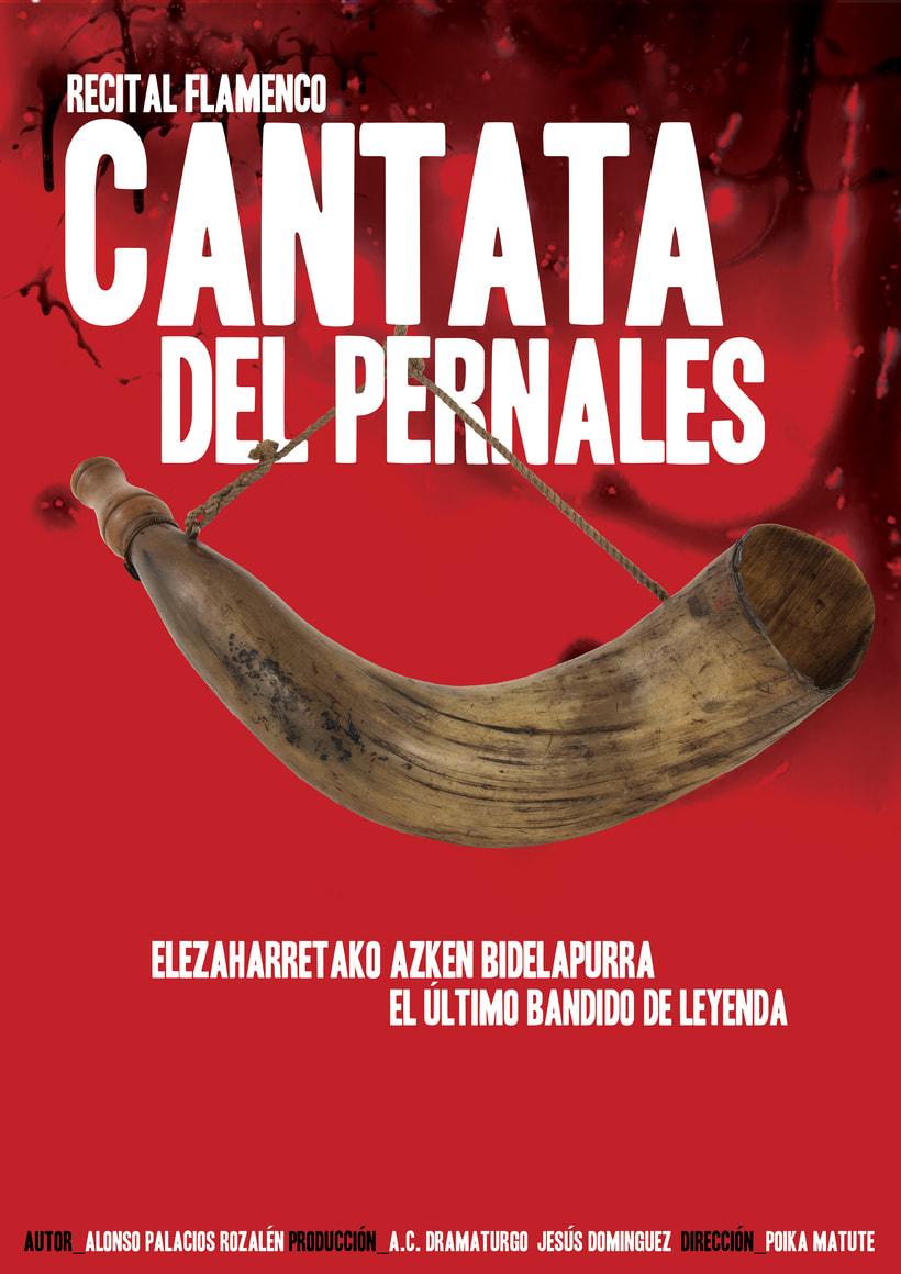 """Cartel """"Cantata del Pernales"""" [ Edición Euskadi ] -1"""