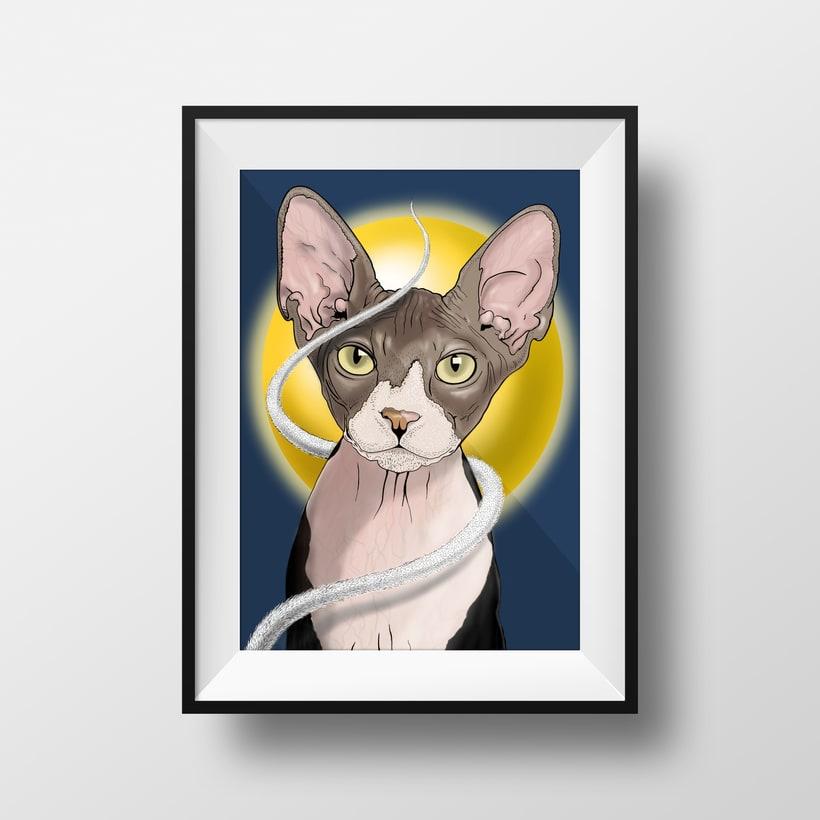 """Ilustración """"Gato Egipcio"""" 1"""