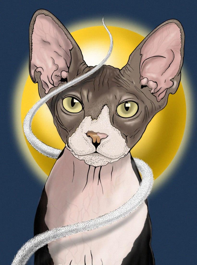"""Ilustración """"Gato Egipcio"""" 2"""