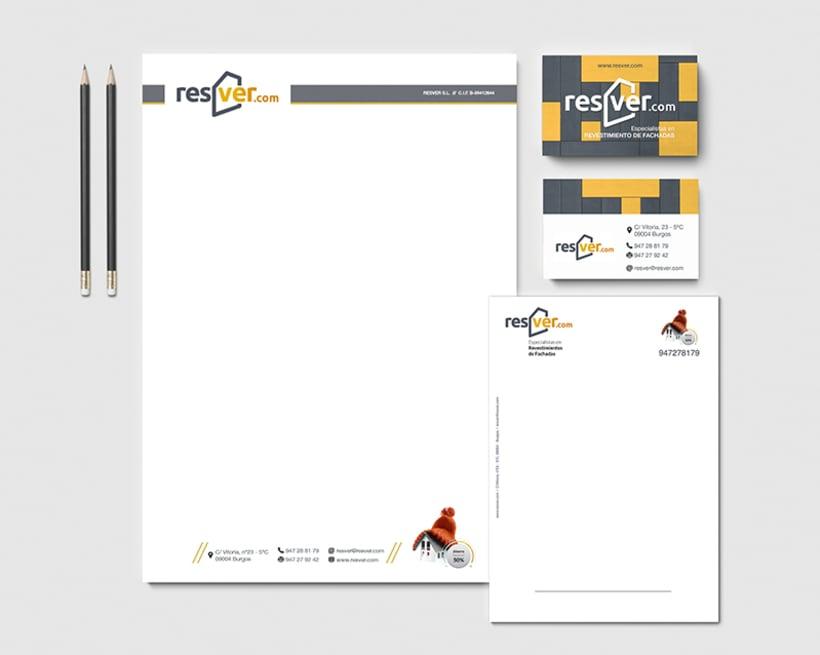 Branding, hojas de empresa y tarjeta de visita 0