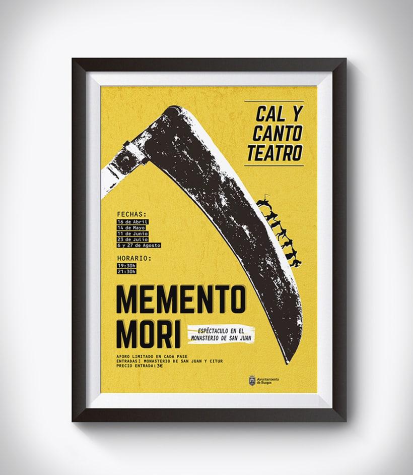 """Cartel, obra de teatro """"Memento Mori"""" -1"""